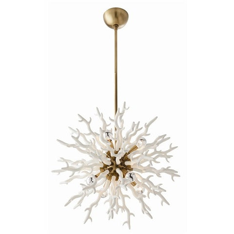 Diallo Small White Chandelier - Arteriors Home