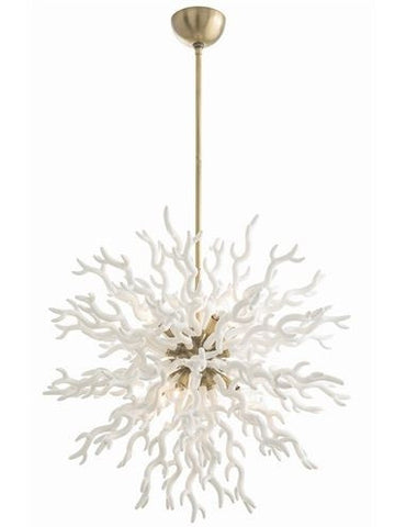 Diallo Large White Chandelier - Arteriors Home
