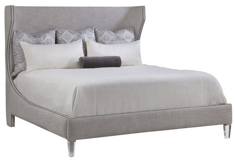 Garbo King Bed with Acrylic Legs - Emerson Bentley