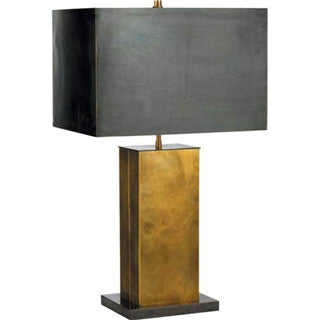 Dixon Tall Antique Brass Table Lamp - Visual Comfort & Co