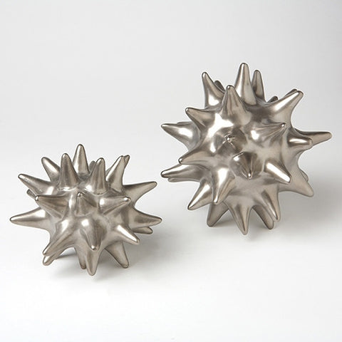 Small Matte Silver Urchin - Global Views