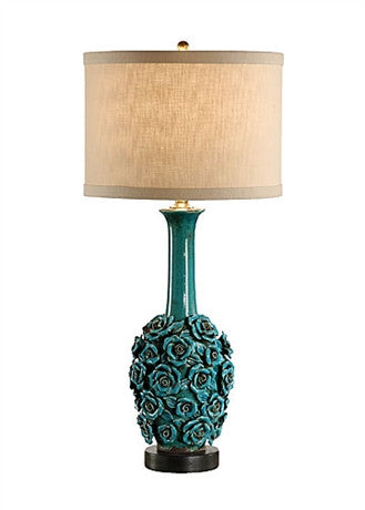 Robust Roses Lamp - Wildwood Lamps & Accents