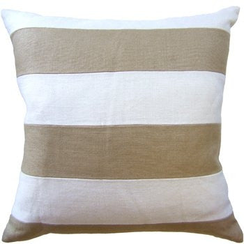 Slubby Linen Stripe Pillow 22x22 - Ryan Studio