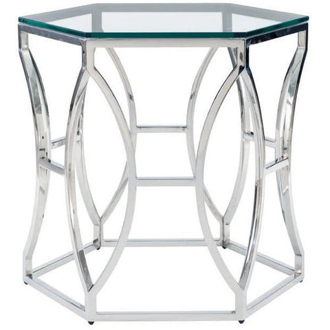 Argent Metal Side Table - Bernhardt Interiors