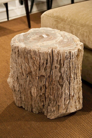 petrified wood side table - bernhardt furniture | luxe home philadelphia