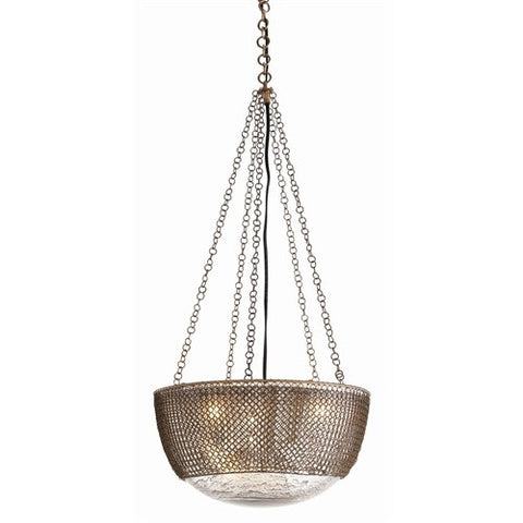 Chainmail 3L Brass Pendant - Arteriors Home