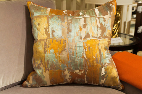 Orange Watercolor Pillow - Callisto Home