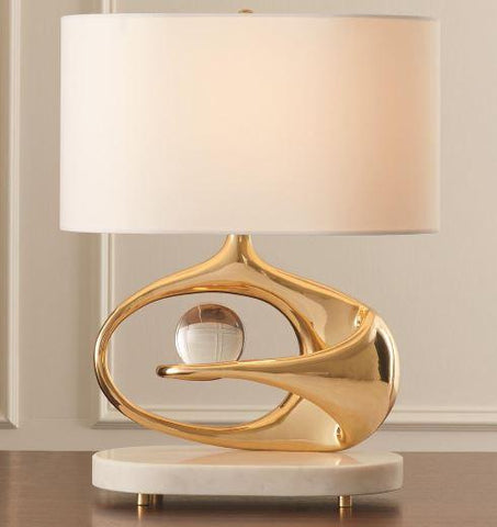Orbit Lamp, Brass - Global Views
