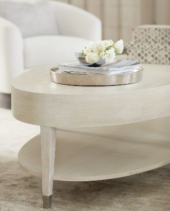 East Hampton Oval Cocktail Table - Bernhardt Furniture