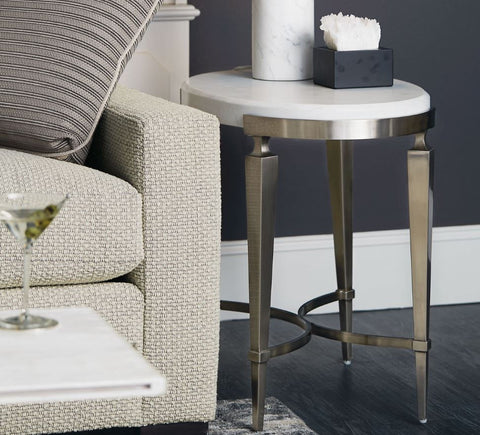 Domaine Blanc Oval Side Table - Bernhardt Furniture
