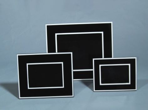 Picture Frame Black with White 4