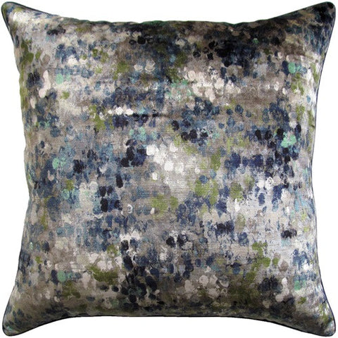Painted Velvet Turquoise Pillow - Ryan Studio