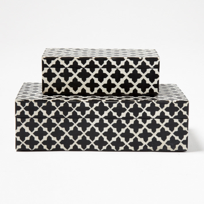 Black And White Decorative Boxes Delectable Patterns Decorative Boxes  Two's Company  Luxe Home Philadelphia Decorating Inspiration