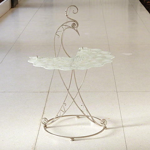 Peacock Table Nickel and White - Global Views