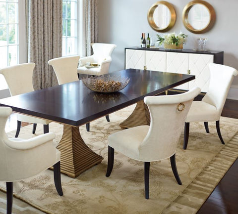 Jet Set Double Pedestal Table - Bernhardt Furniture