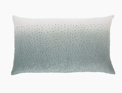 Ombre Print Pillow With Gunmetal Beads - Callisto Home