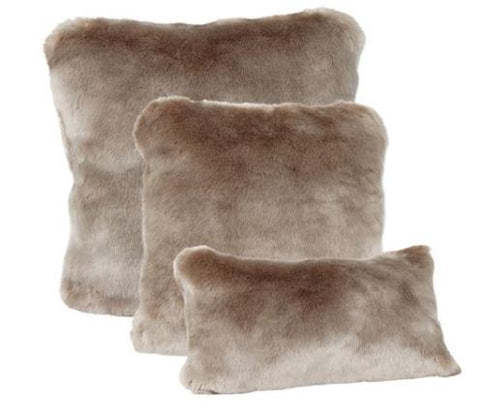 Couture Collection Pillows: Champagne Mink - Fabulous Furs