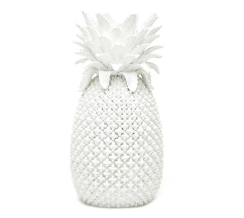 White Resin Pineapple Decorative Vase - Tozai Home