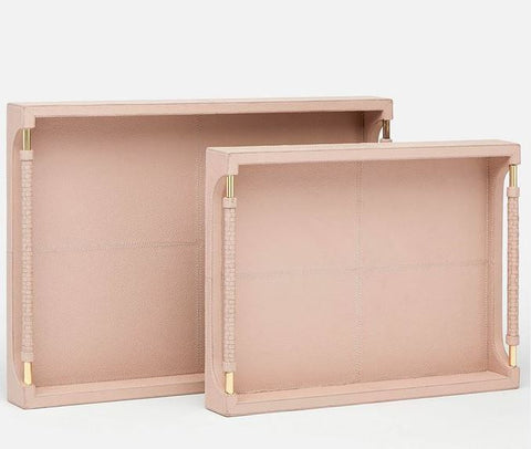 Lenora S/2 Full-Grain Leather Trays - Made Goods