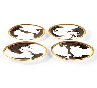 Bianco Nero Appetizer Plate - Lunares