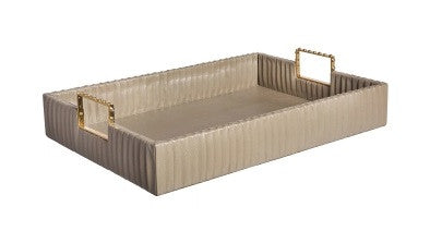 Pleated Leather Tray - Emporium Home