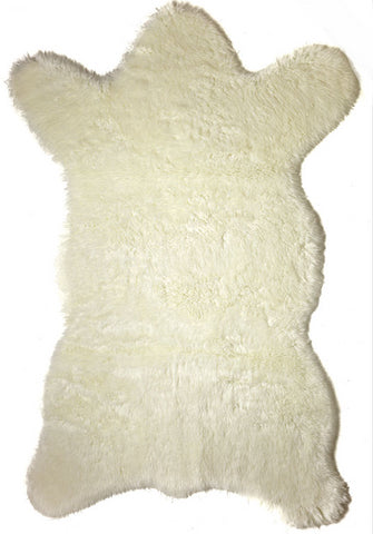 Faux Polar Bear Rug - Fabulous Furs