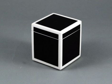 Q Tip Box Black with White Trim - Pacific Connections
