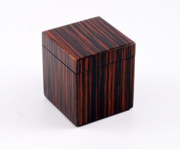 Q Tip Box Macassar Ebony - Pacific Connections