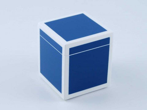 True Blue & White Q-Tip Box - Pacific Connections