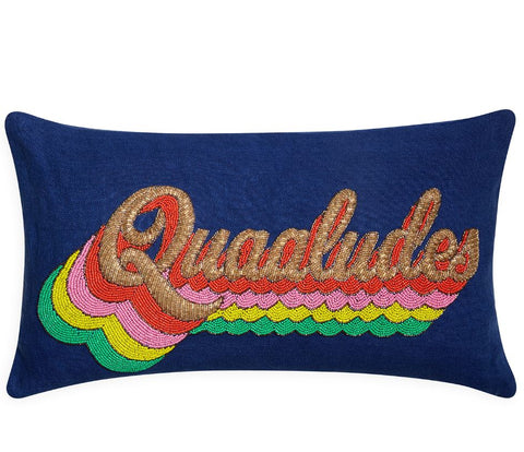 Quaaludes Beaded Pillow - Jonathan Adler