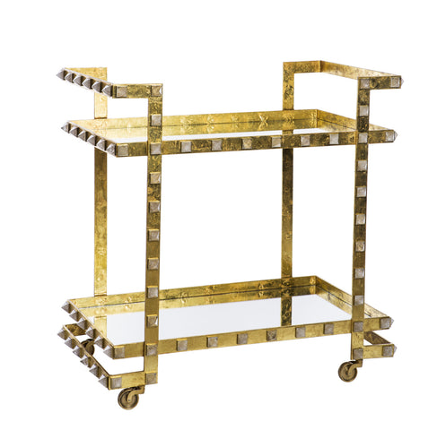 Quartz Stud Bar Cart - Emporium Home