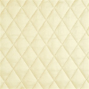 Ivory Charmeuse Quilted Sham - Ann Gish