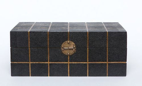 Quique Box Black Shagreen/Gold - Made Goods