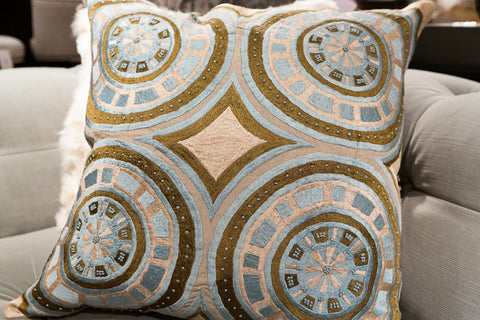 Ravi Quad Circle Pillow - Sabira Collection