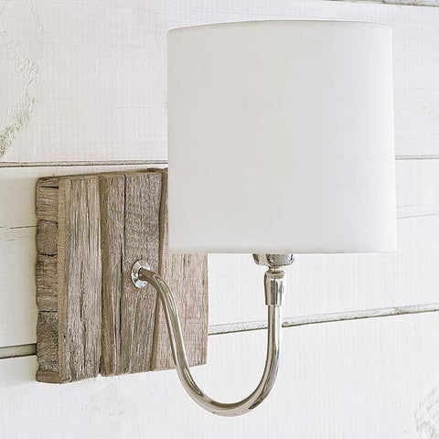 Reclaimed Wood Bent Arm Sconce - Regina Andrew Design