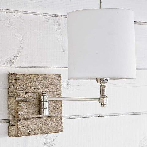 Reclaimed Wood Swing Arm Sconce - Regina Andrew Design