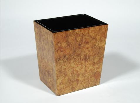 Rectangular Waste Basket Walnut Burl - Pacific Connections