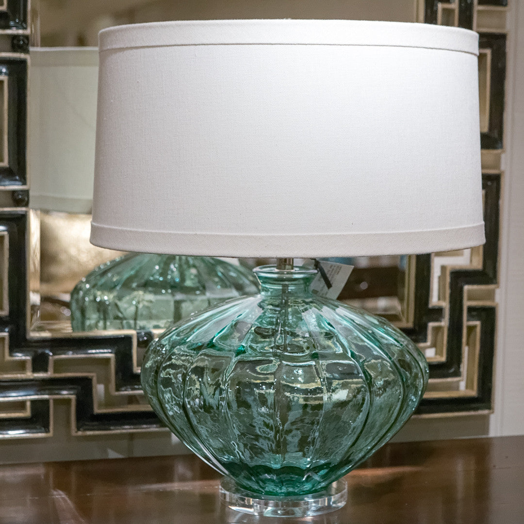 recycled glass lamp melon lamp works luxe home philadelphia