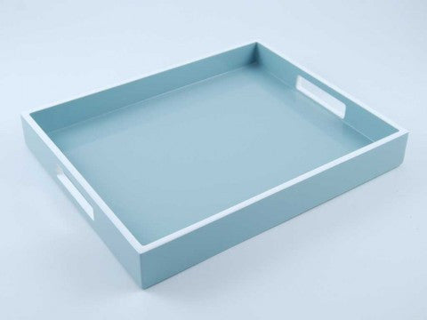 Reiko Tray Cool Gray With White Trim - Pacific Connections