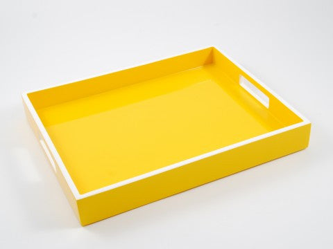 Reiko Tray Mustard With White Trim - Pacific Connections