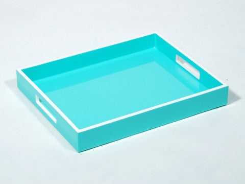 Reiko Tray Sky Blue With White Trim - Pacific Connections