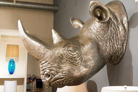 Rhinoceros Wall Sculpture - Phillips Collection