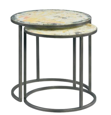 Riley Nested Side Table Antique Eglomise - Modern Living by Lillian August