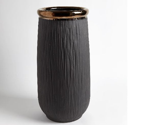 Rolled Bronze Banded Container - Global Views