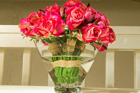 Natural decorations inc reproduction flowers luxe home philadelphia rose ndi mightylinksfo