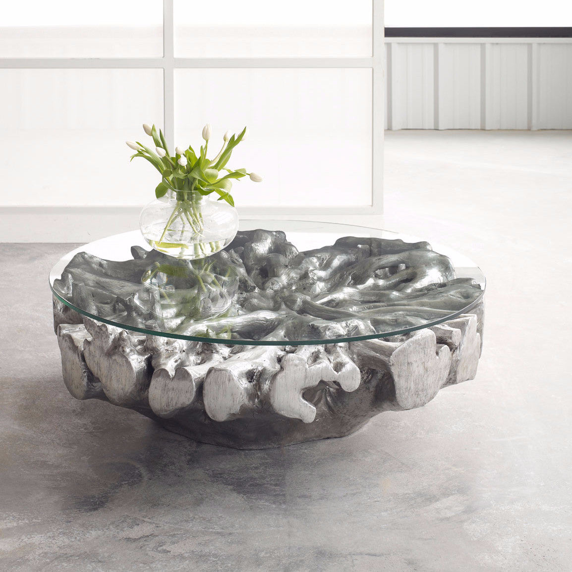 Round Root Coffee Table Phillips Collection Luxe Home Philadelphia