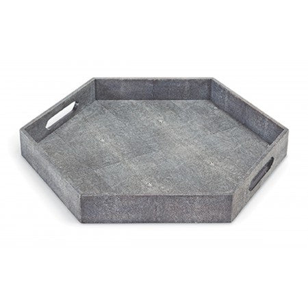 Shagreen Hex Tray - Regina-Andrew Design