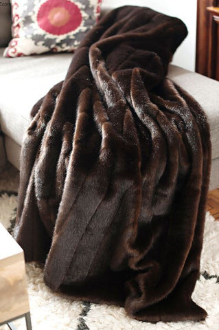 Sable Signature Faux Fur Throw - Fabulous Furs