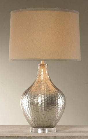 Sofia Table Lamp, Antique Silver - Mr. Brown