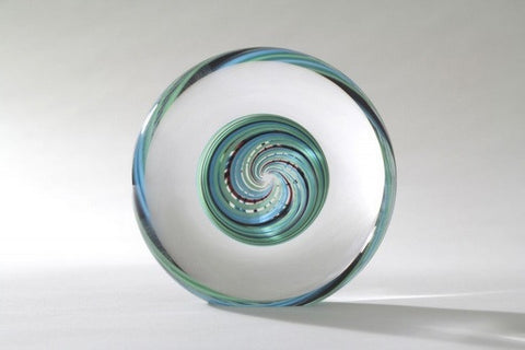 Spiro 2 Black Turquois - Teign Valley Glass